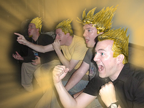 Super Saiyan reaction