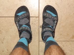 Plaid Socks with Sandals
