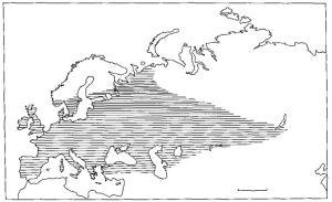 Megaloceros, map, distribution, biogeography, eurasia
