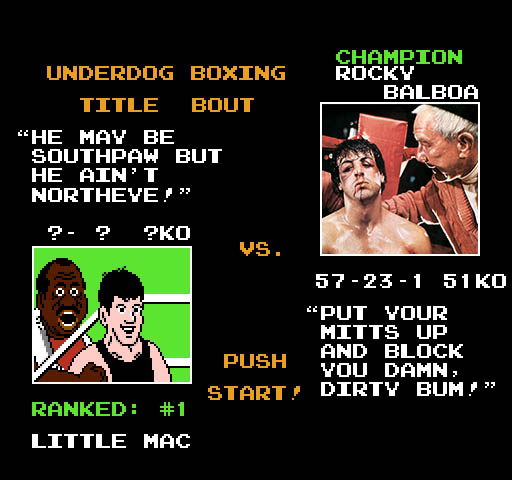 Rocky, Little Mac, Rocky vs Little Mac, Punch Out